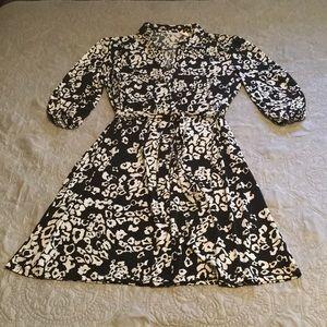 Worthington 3/4 Sleeve Shirt Dress w/Tie Belt 20W
